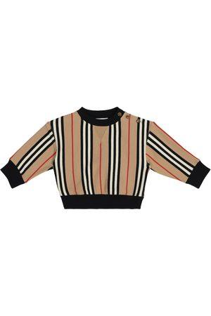 Burberry Sweatshirts - Baby Icon Stripe cotton jersey sweatshirt