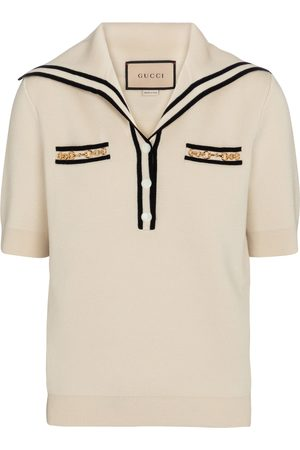 Gucci Women Tops - Embellished wool top
