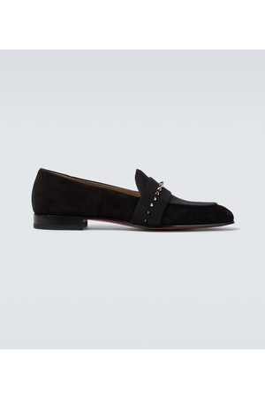 Christian Louboutin Men Loafers - Nit Night suede and twill loafers