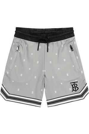 Burberry Logo technical-jersey shorts