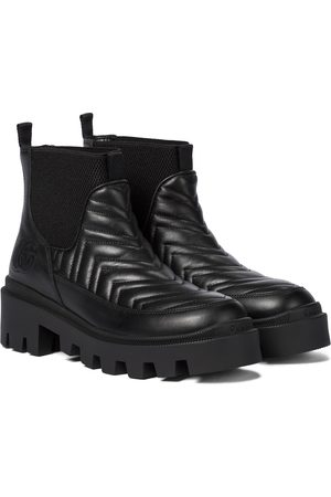 Gucci Women Ankle Boots - Quilted leather platform ankle boots