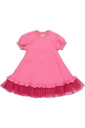 Fendi Girls Dresses - FF logo-jacquard dress