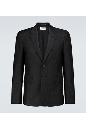 Saint Laurent Pinstriped mohair-wool blazer