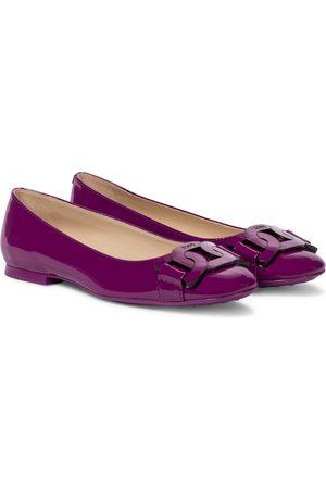 Tod's Women Ballerinas - Gomma patent leather ballet flats