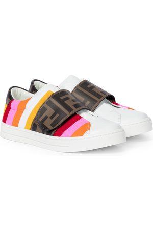 Fendi Striped leather sneakers