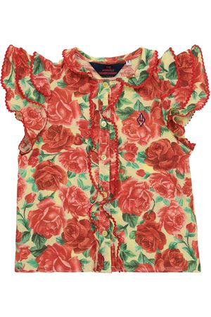 The Animals Observatory Parakeet floral cotton blouse