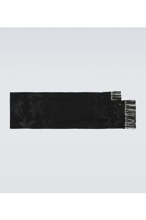 Saint Laurent Men Scarves - Embroidered silk scarf
