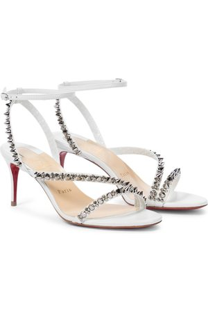 Christian Louboutin Women Sandals - Mafaldina Spikes 70 leather sandals