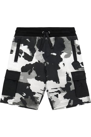 Dolce & Gabbana Boys Shorts - Camo cotton jersey cargo shorts