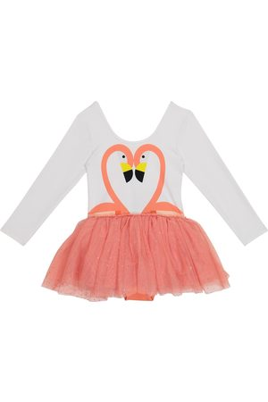 Stella McCartney Girls Casual Dresses - Flamingo jersey and tulle dress