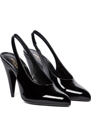 Saint Laurent Venus patent leather slingback pumps