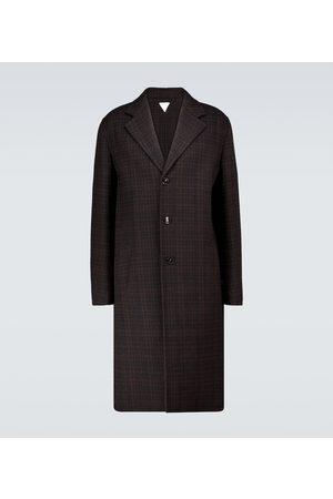 Bottega Veneta Men Coats - Checked double-faced wool coat
