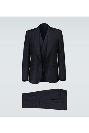Dolce & Gabbana Men Suits - Wool camouflage jacquard suit