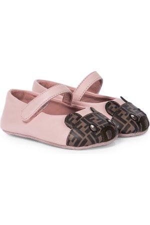 Fendi Baby leather ballet flats