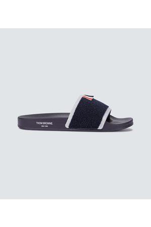 Thom Browne Men Sandals - Terry cloth pool sliders