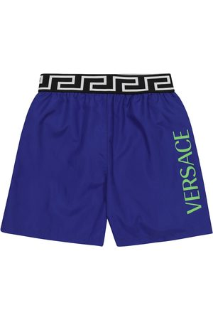 VERSACE Boys Swim Shorts - Logo swim trunks