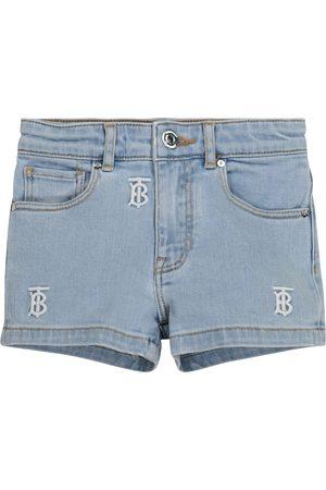 Burberry Logo embroidered denim shorts