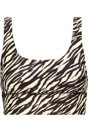 The Upside Women Sports Bras - Nadiya zebra-print sports bra