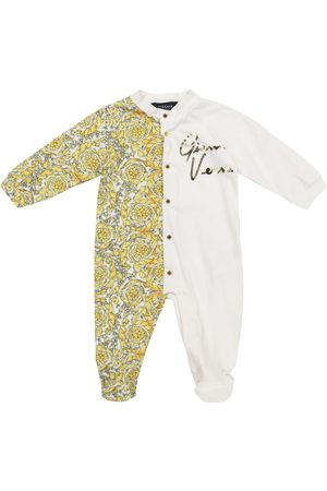 VERSACE Baby Barocco stretch-cotton onesie
