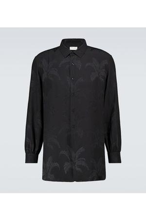 Saint Laurent Silk jacquard long-sleeved shirt