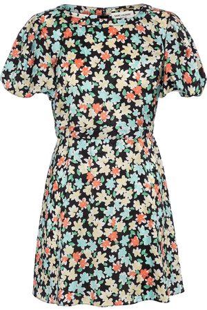 Saint Laurent Floral silk minidress