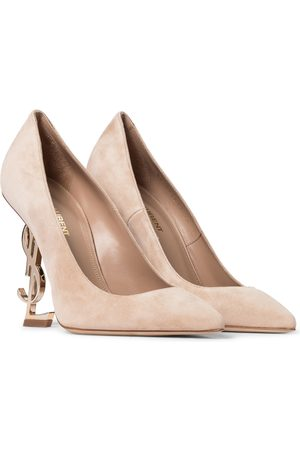 Saint Laurent Opyum 110 suede pumps