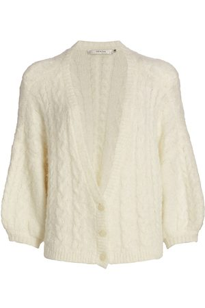 Gestuz Women Cardigans - Women's DoaGZ Cabled Alpaca-Blend Cardigan - Off - Size XS