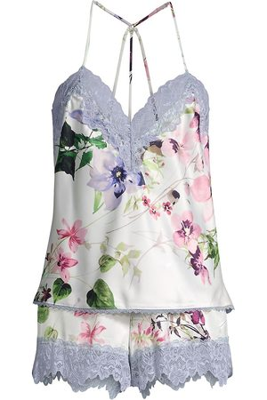 In Bloom Women Pajamas - Women's And I Love Her 2-Piece Cami & Shorts Pajama Set - Ivory - Size XL