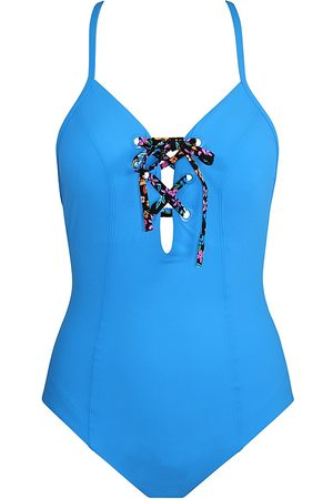 Skinny Dippers Women's Lacey Tie Breaker One-Piece Swimsuit - September - Size Large