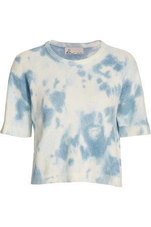 DH New York Women's Wren Tie-Dye T-Shirt - Breeze - Size Medium