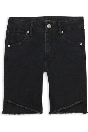 Joes Jeans Girl's High-Rise Angled Hem Denim Shorts - - Size 10