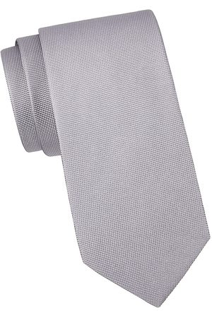 Eton Men Neckties - Men's Solid Silk Tie - Grey