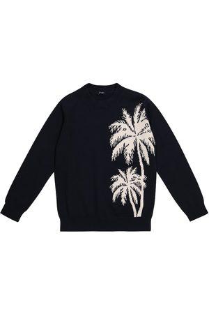 Il gufo Intarsia cotton sweatshirt