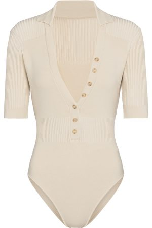 Jacquemus Women Bodies - Le Body Yauco ribbed-knit bodysuit