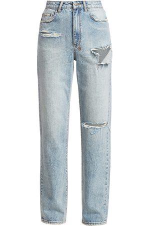 KSUBI Women's Playback High-Rise Skream Trashed Jeans - Denim Trashed Flash - Size Denim: 30