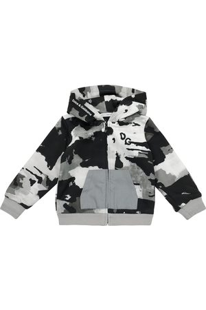 Dolce & Gabbana Baby camo cotton jersey hoodie