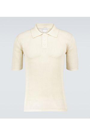 Bottega Veneta Men Polo Shirts - Short-sleeved mesh polo shirt