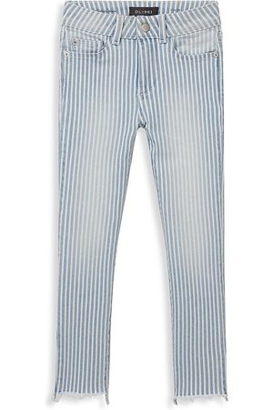 DL1961 Girls Skinny - DL1961 Premium Denim Girl's Chloe Stripe Distressed Skinny Jeans - Faded - Size 8