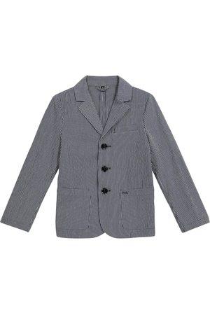 Emporio Armani Pinstripe stretch-wool blazer