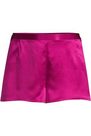La Perla Women's Silk Pajama Shorts - Fuchsia - Size Small