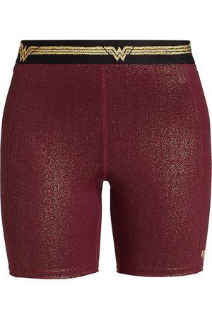 Eleven by Venus Williams Women's Wonder Woman Biker Shorts - Deep Burgundy - Size XS