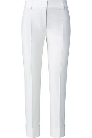 AKRIS Women's Maxima Poplin Stretch Pants - Ecru - Size 4