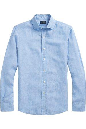 Polo Ralph Lauren Men Polo Shirts - Men's Classic-Fit Linen Sport Shirt - Light - Size Medium