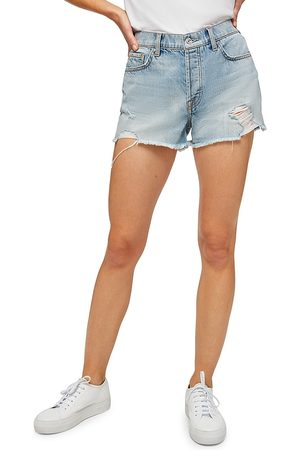 7 for all Mankind Women Shorts - Women's Monroe Relaxed Cut-Off Denim Shorts - Cosmic - Size Denim: 28