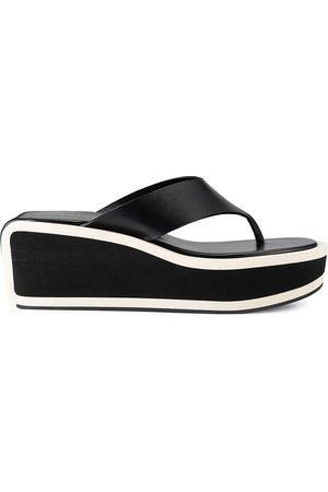Frame Women's Le Ocean Platform Leather Sandals - Multi - Size 10.5