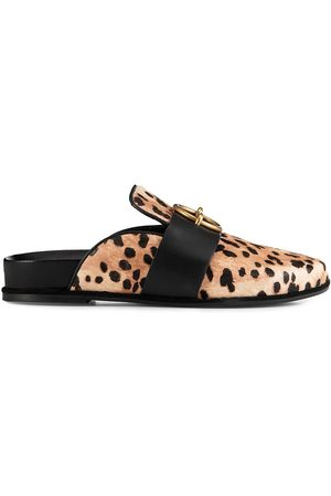 Frame Women's Le Aspen Leather Mules - Leopard Multi - Size 8.5