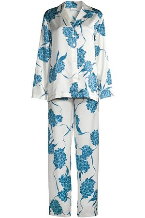 La Perla Women's Hydrangea 2-Piece Long Pajama Set - Offwhite Dusty - Size Small