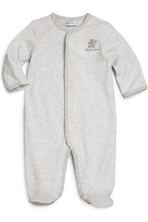 Ralph Lauren Baby's Striped Cotton Footie - Grey - Size Newborn