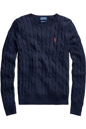 Polo Ralph Lauren Women Sweaters - Women's Julianna Classic Cable Knit Sweater - Navy - Size XS