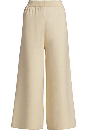 Gestuz Women Culottes - Women's Talli Mid-Rise Culottes - Egret - Size XS